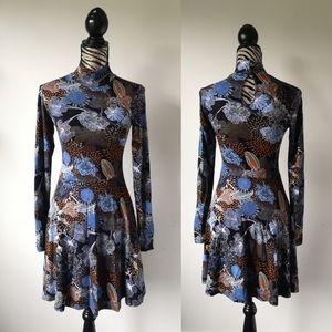 BOGO Floral mini fit and flare Boho dress
